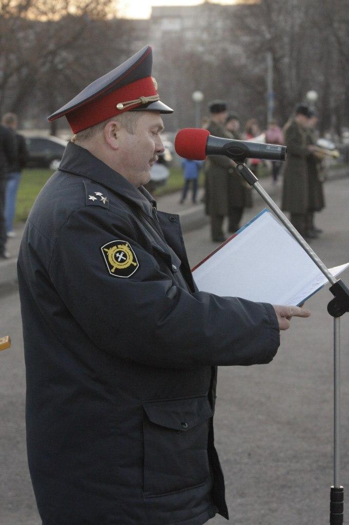 В Тамбове прошёл общегарнизонный развод полицейских