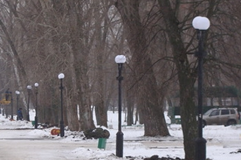 В городском парке появятся новые декоративные светильники