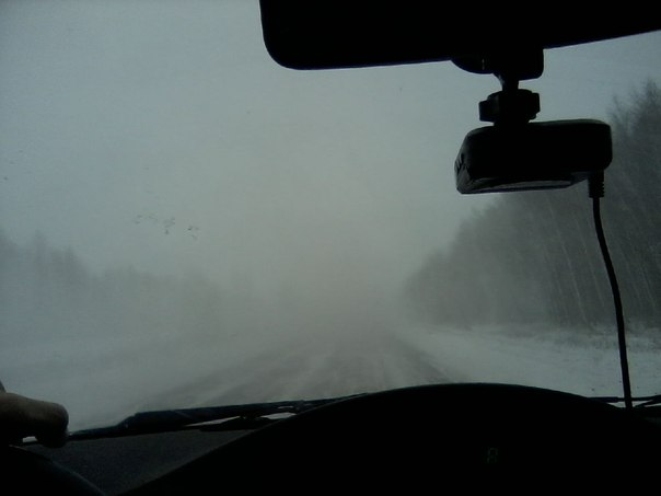 Из-за снегопада видимость на федеральных трассах в тамбовской области снизилась до 100 метров