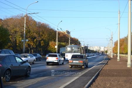 Дорожная разметка на обновленном бульваре Энтузиастов в Тамбове появится в ближайшее время