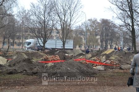 Бульвар Энтузиастов в Тамбове перекопали