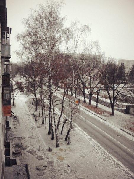 В последний день осени погода порадовала тамбовчан долгожданным снегом