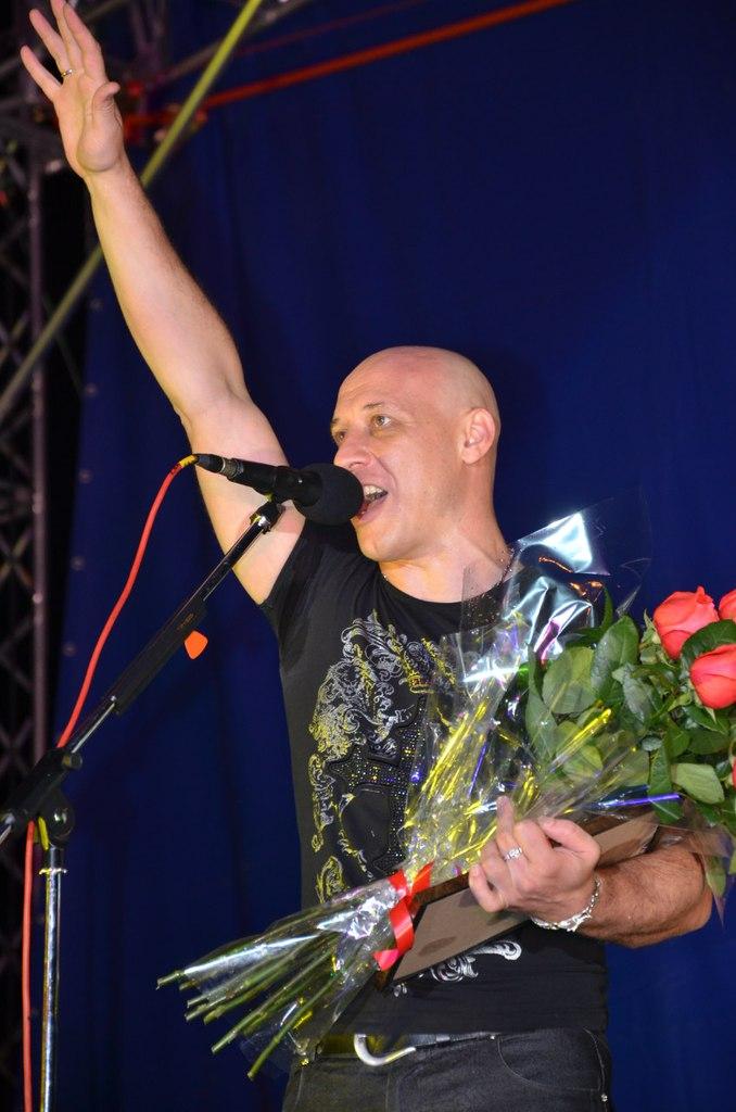 Денис Майданов на Дне города в Рассказово
