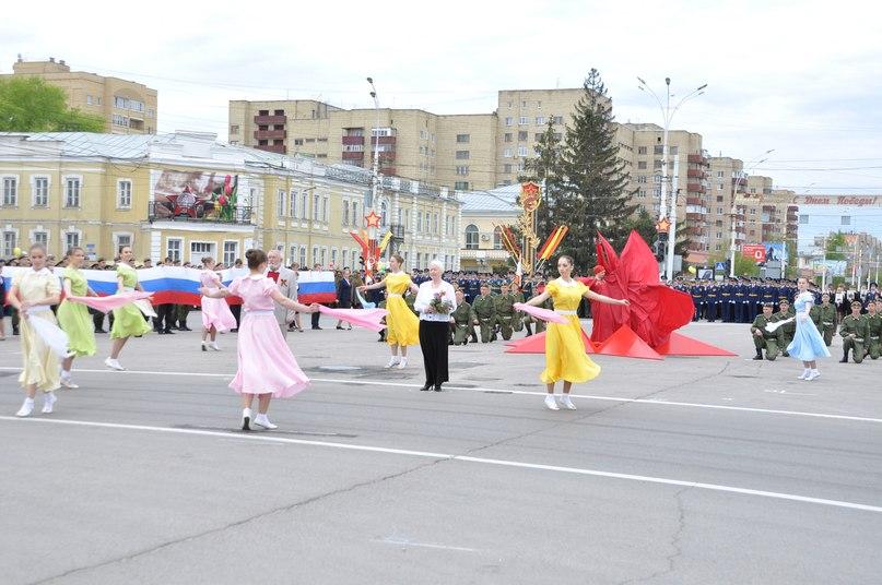 В Тамбове прошел парад, посвященный 69-й годовщине Победы в Великой Отечественной войне