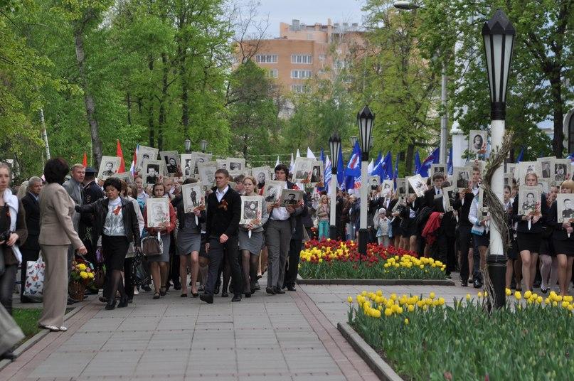 """В день Победы у """"Вечного огня"""" в Тамбове состоялся торжественный митинг."""