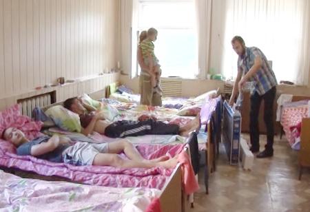 В Центре временного размещения украинских беженцев на улице Базарной областного центра по-прежнему остаются около 60 человек