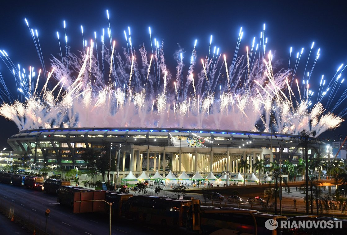 Олимпийский огонь зажгли настадионе «Маракана» вРио