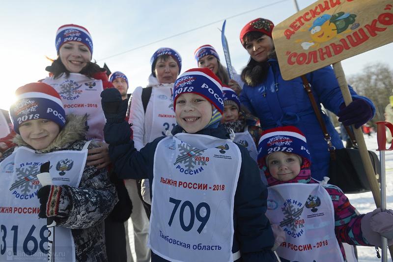 Лыжники младших возрастов на