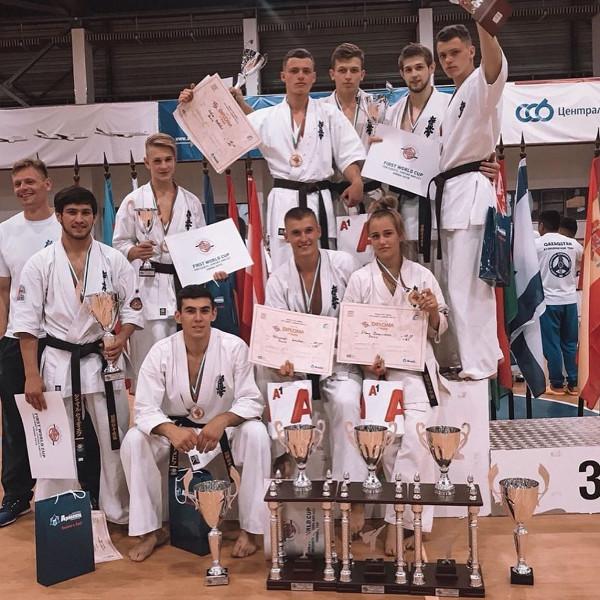 Две бронзовые медали завоевали юные тамбовчане на Кубке мира по киокусинкай