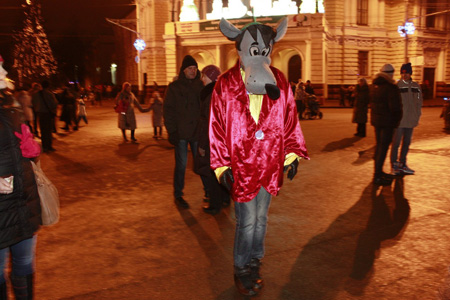 Тамбовчане встретили последние часы 2013 года