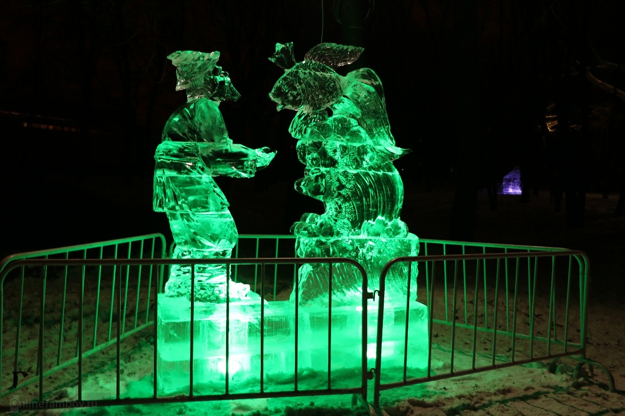 ледовые скульптуры фото герои сказок востоку мыса