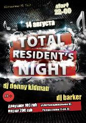 TOTAL RESIDENT NIGHT